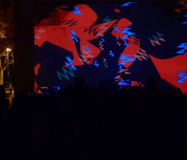 vj set at festival Visual Brasil